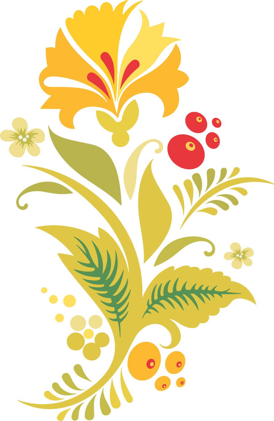 ポップでかわいい花のイラスト・フリー素材/no.193『秋の色』