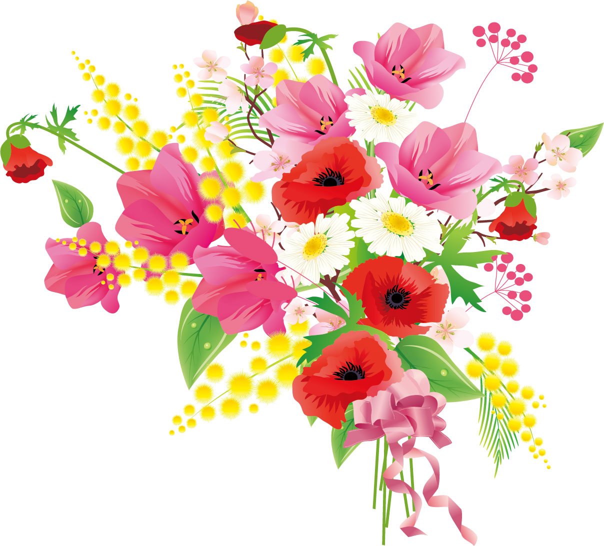 for Bouquet de fleurs coloriage
