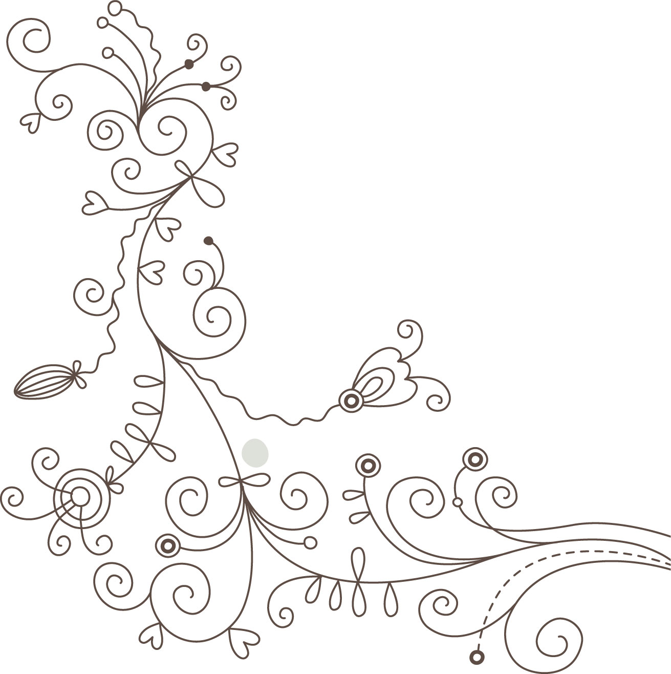 花のイラスト フリー素材 白黒 モノクロno 015 白黒 かわいい絵2