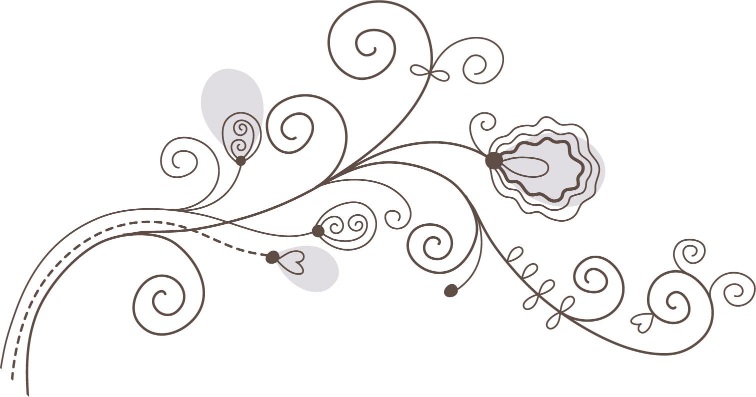 ポップでかわいい花のイラスト フリー素材 No 1106 白黒 かわいい絵6