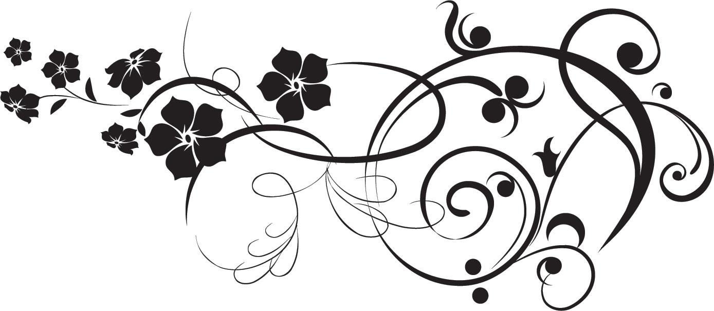 花のイラスト フリー素材 フレーム枠no 323 白黒 葉 5枚葉