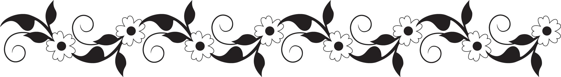 花のイラストフリー素材フレーム枠no261白黒葉ボーダー