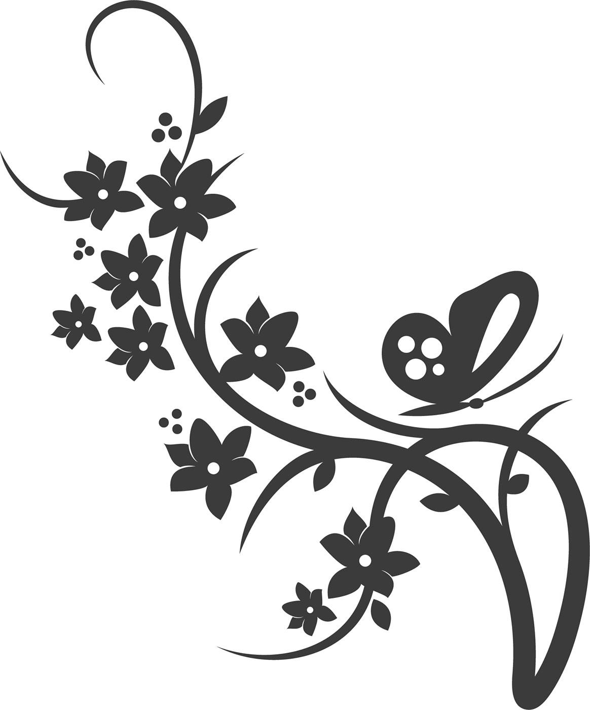 Трафареты цветы для декора