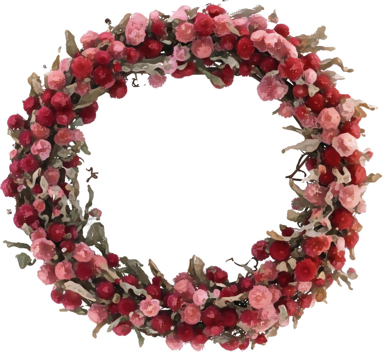 花のイラストフリー素材フレーム枠no186ドライフラワーリース