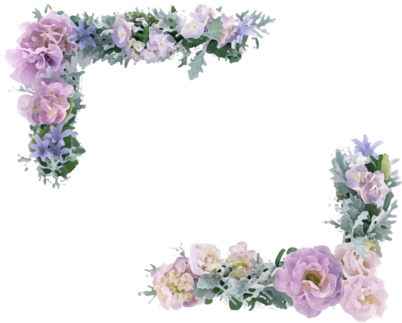 Pin 花のフレームイラスト on ... : ぬりえ フリー : すべての講義