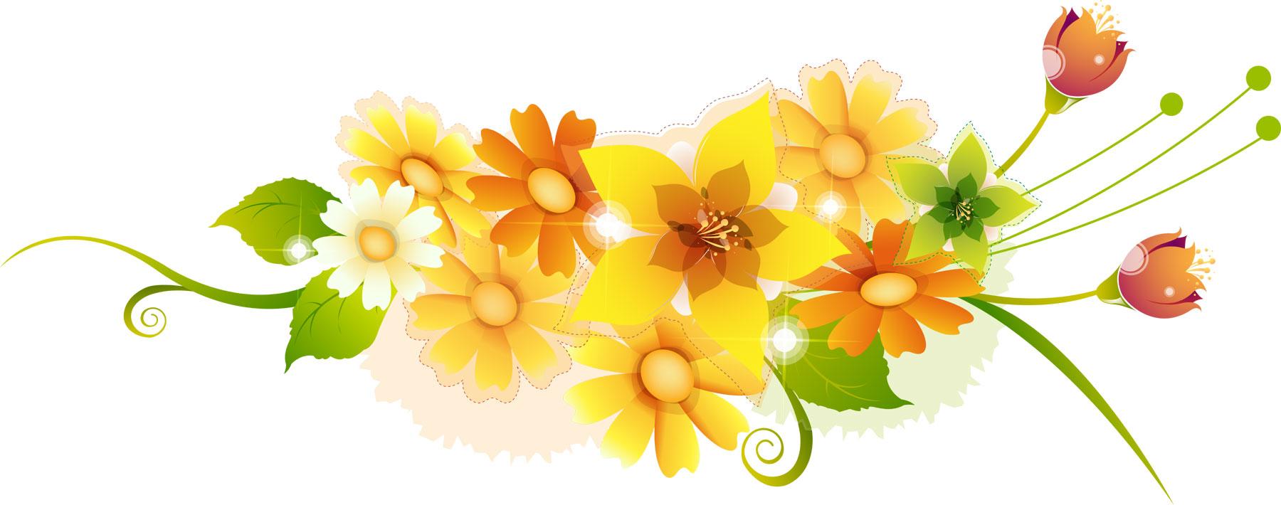 イラスト イラスト枠 無料 ダウンロード : 花のライン線イラスト-黄緑赤 ...