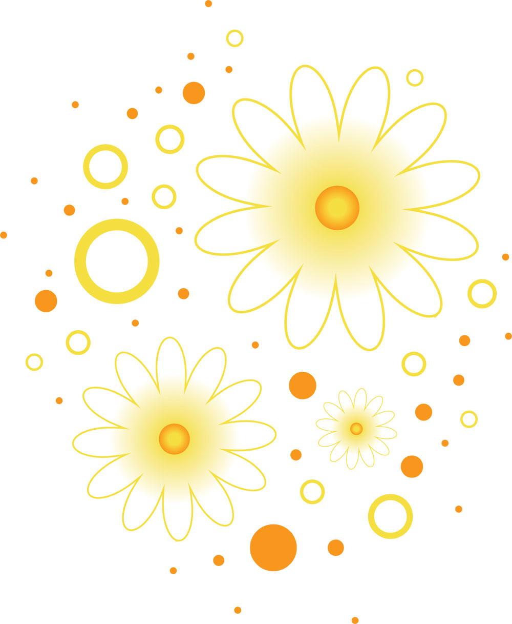 ポップでかわいい花のイラストフリー素材no249白茶淡い色