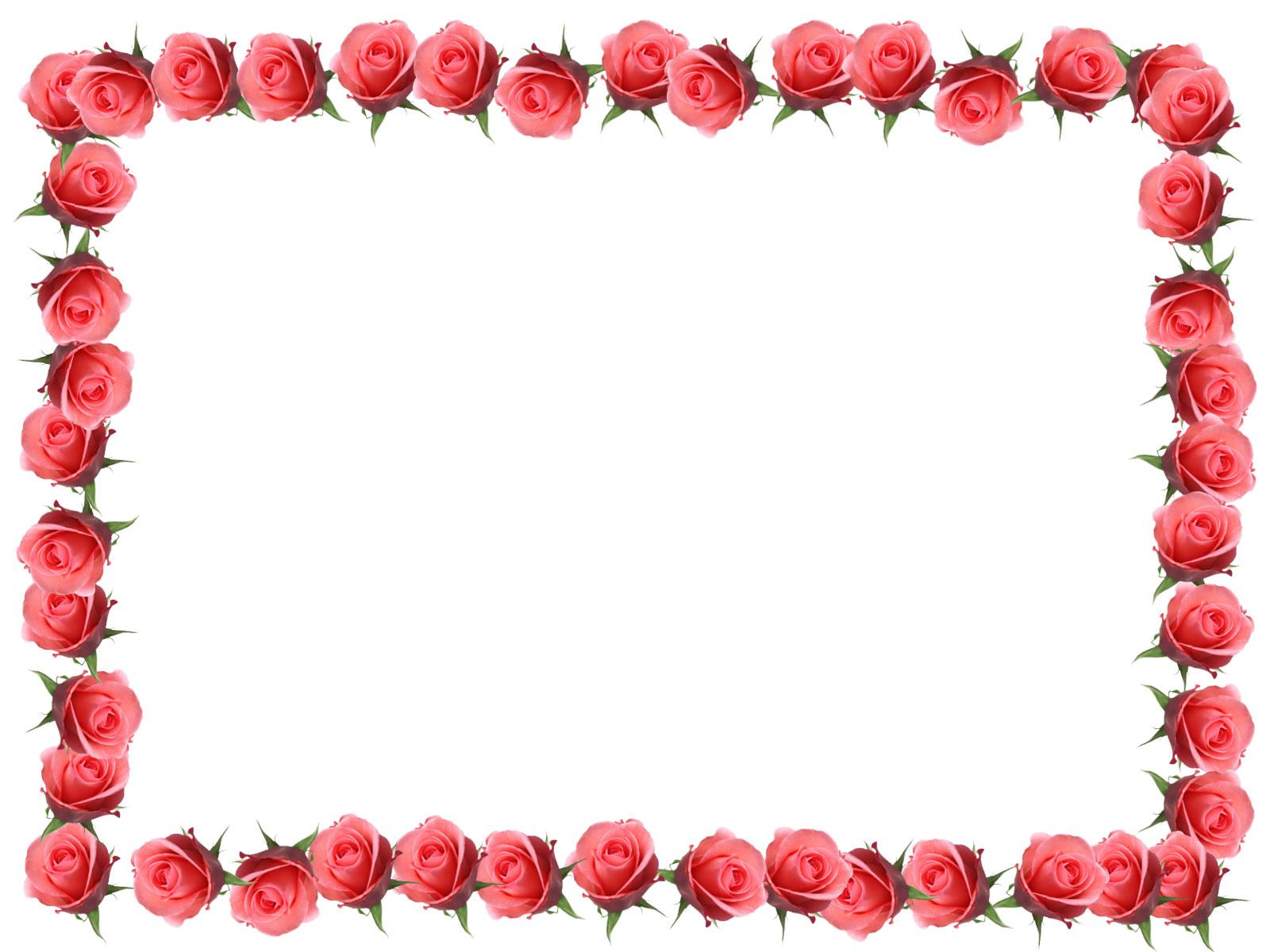 花のフレーム枠写真-ピンクの ...