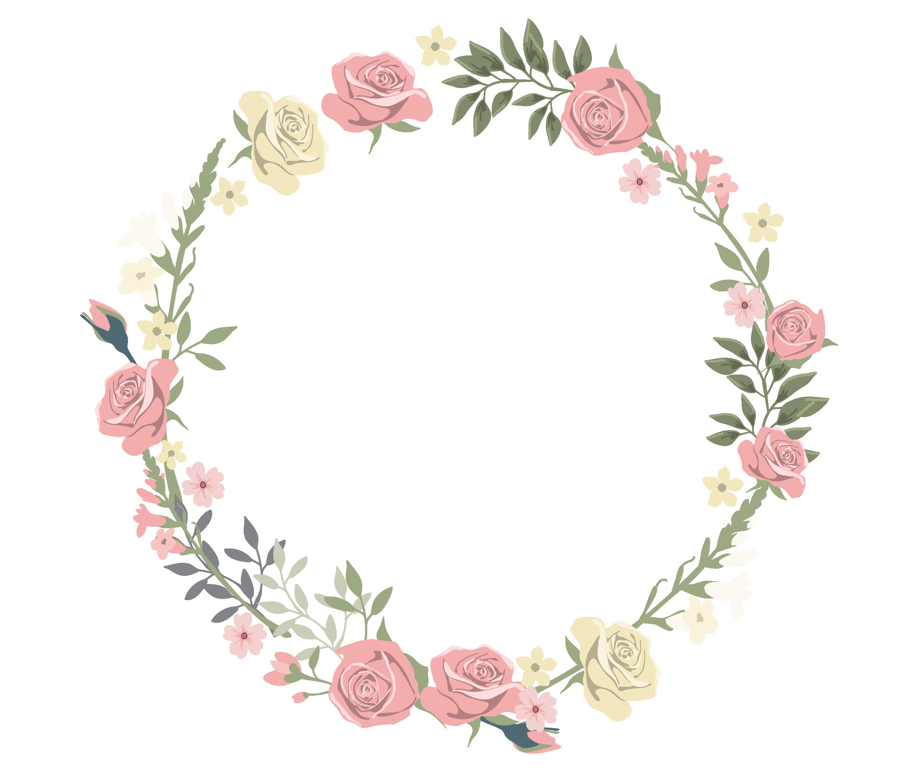 バラのイラスト・画像No.717『バラのフレーム』/無料のフリー素材集【百花繚乱】