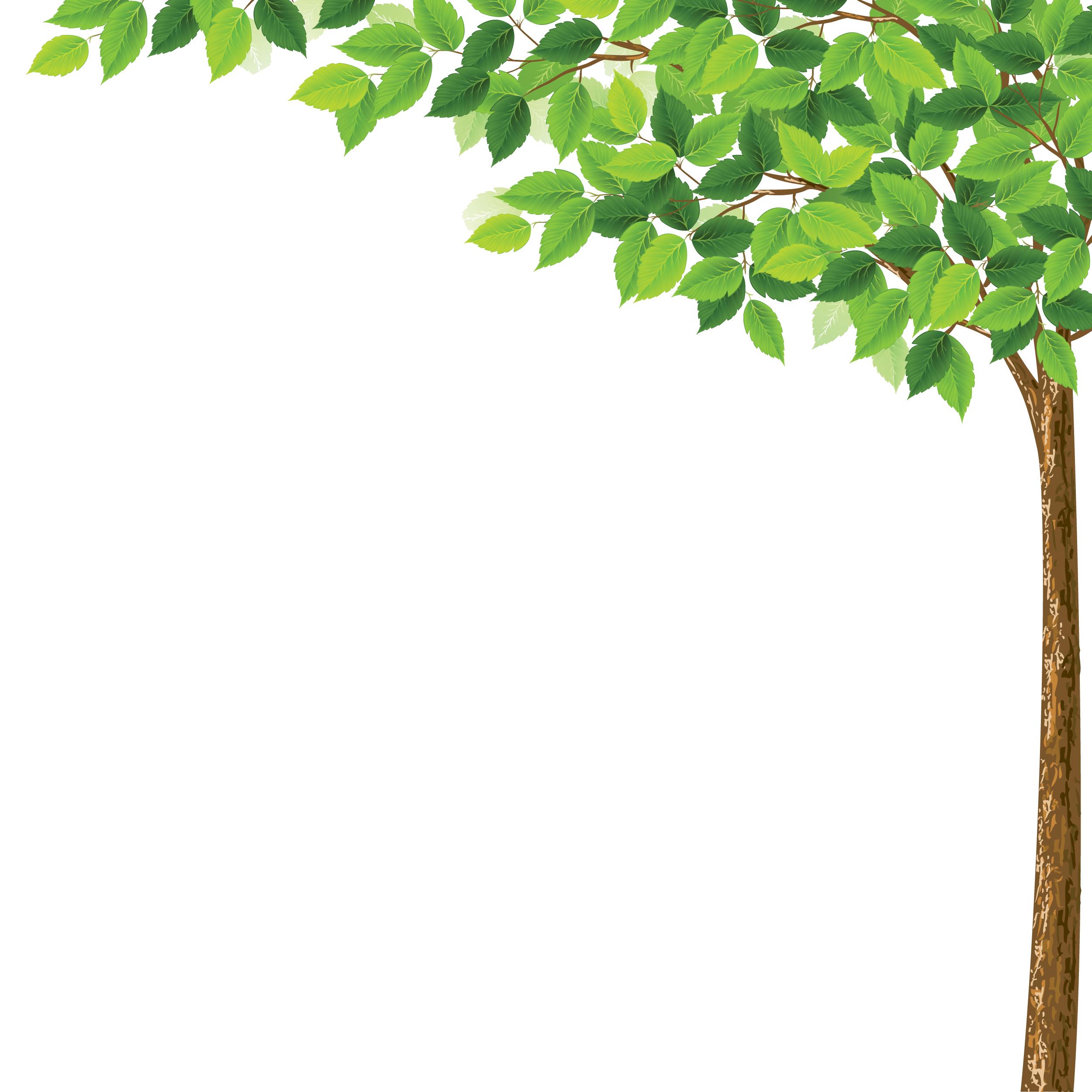 葉っぱや草木のイラスト/壁紙・背景no.057『夏の樹木・透過色』