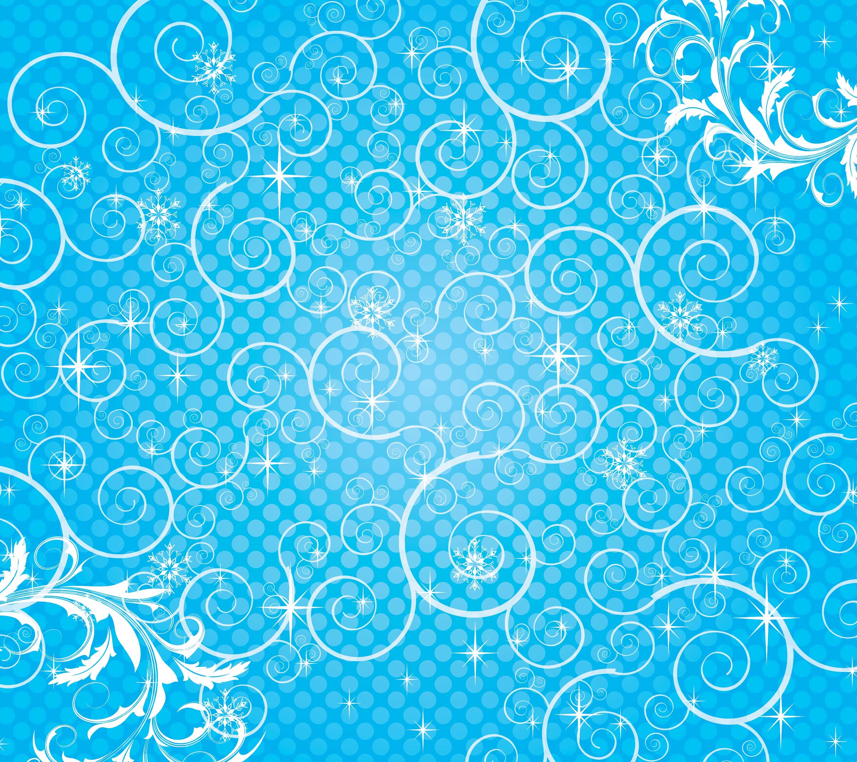 葉っぱや草木のイラスト/壁紙・背景no.093『水色・ドット模様・茎蔓』
