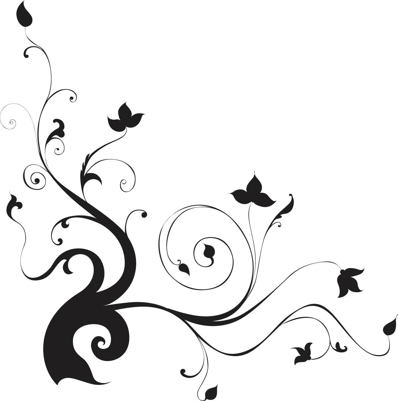 葉っぱや草木のイラスト『コーナーライン(角)』/無料のフリー素材集
