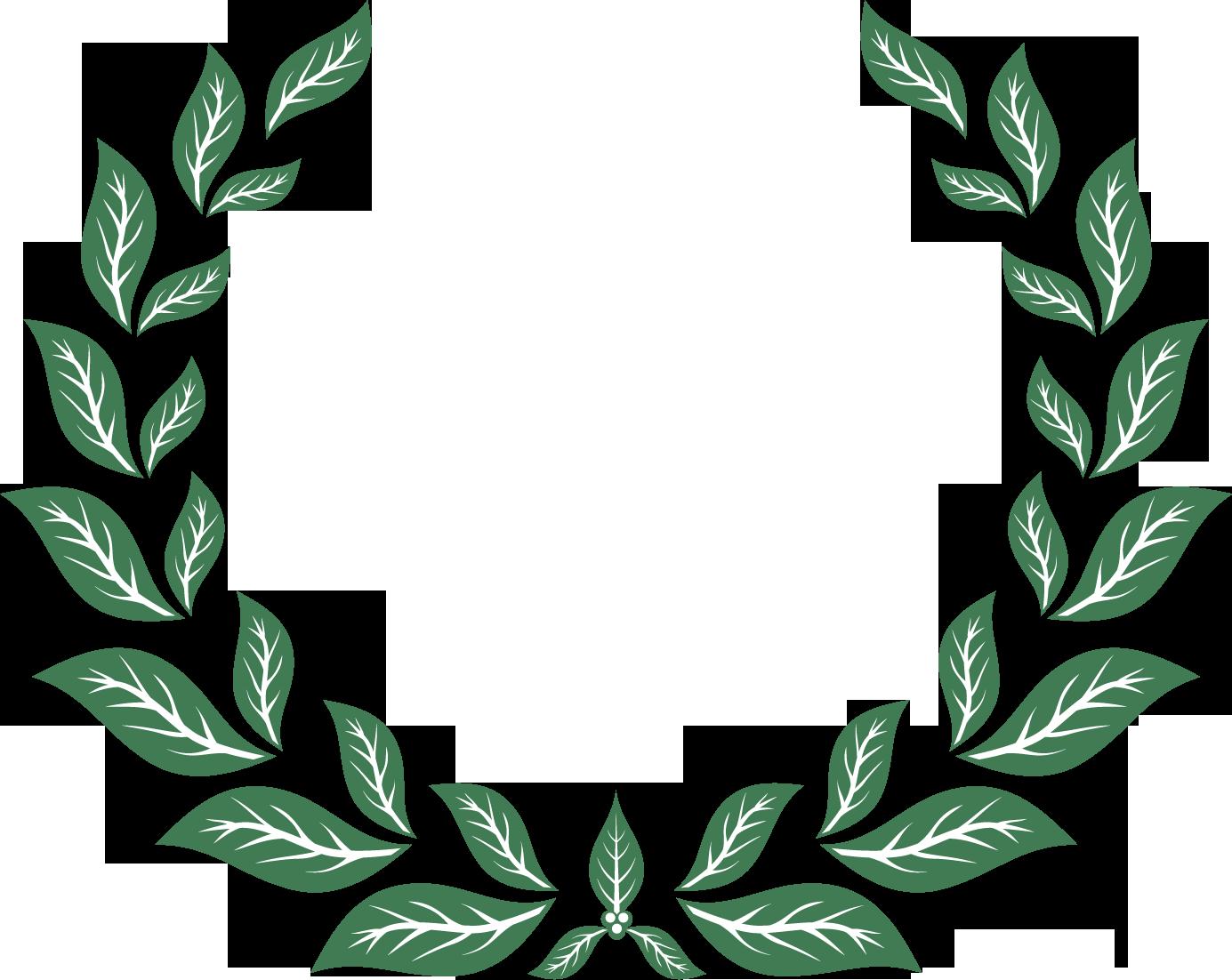 葉っぱや草木のイラスト・写真素材 『フレーム・囲い枠・タイトル窓』