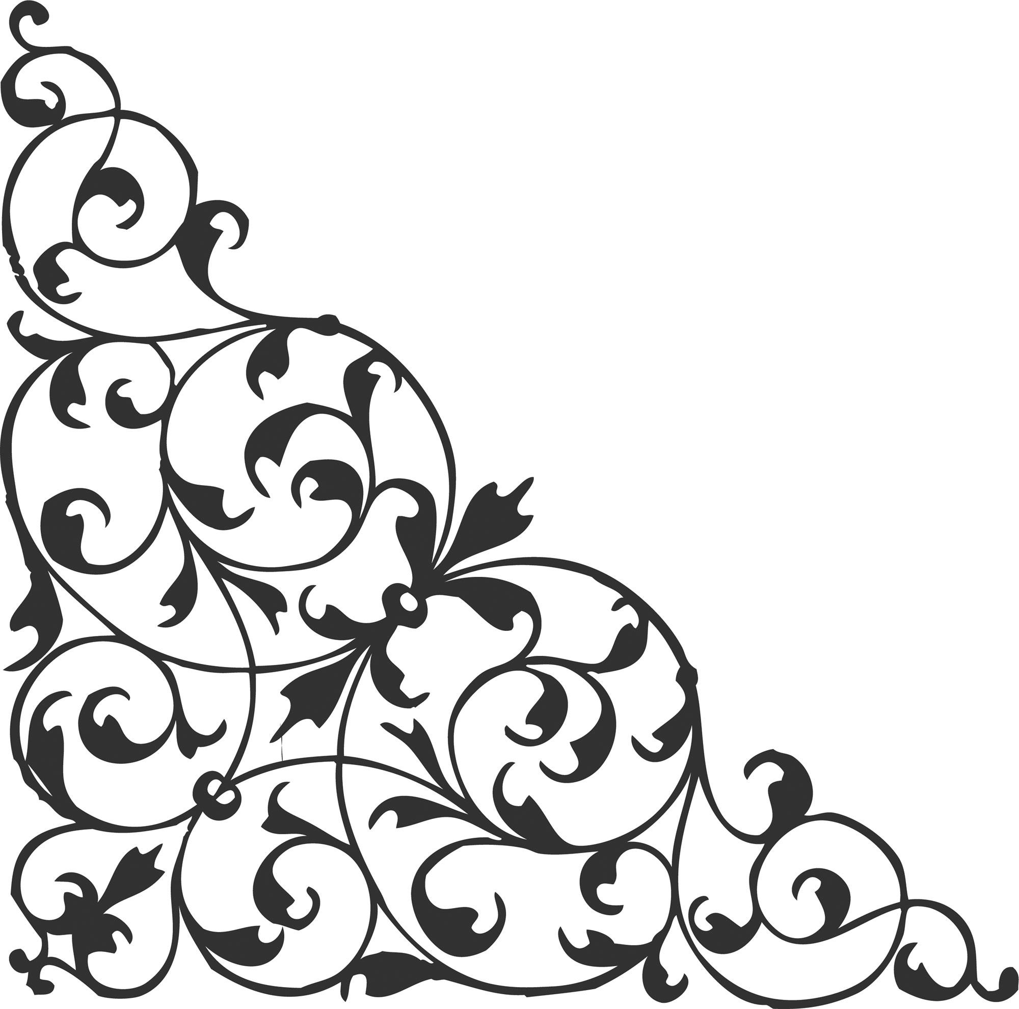 葉っぱや草木のイラスト『白黒・モノクロ2』/無料のフリー素材集【百花