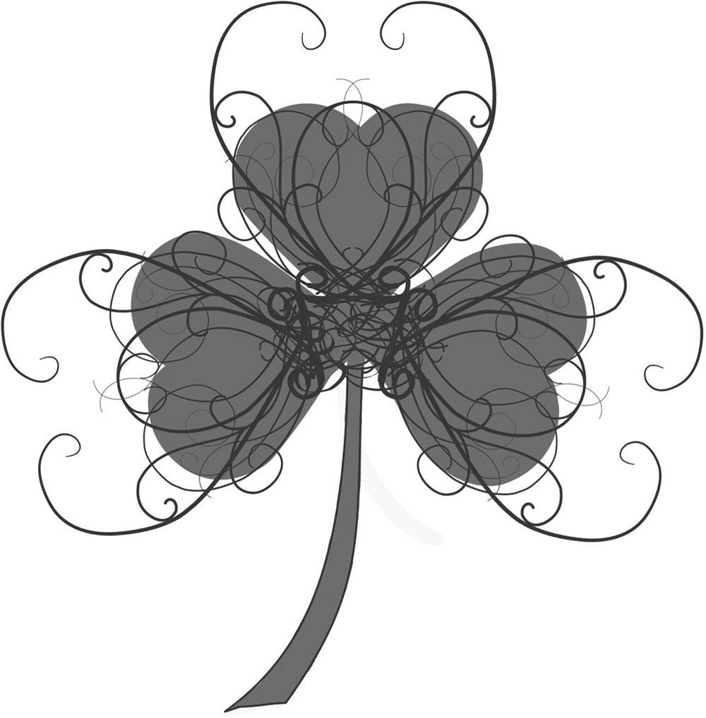 葉っぱや草木の白黒・モノクロイラスト/無料で使えるフリー素材