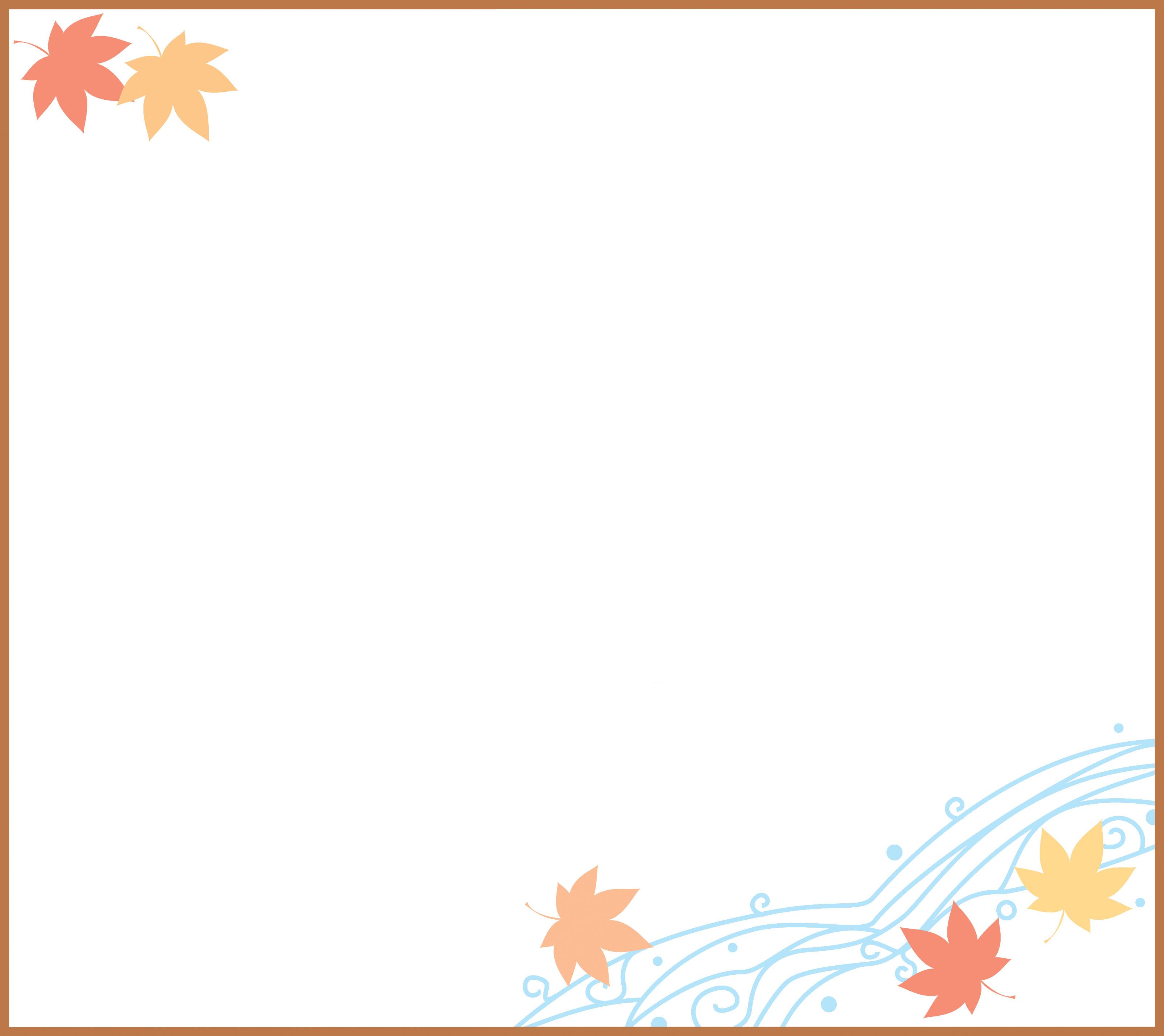 葉っぱ・草木のイラスト・フリー素材/フレーム枠no.122『秋の紅葉』