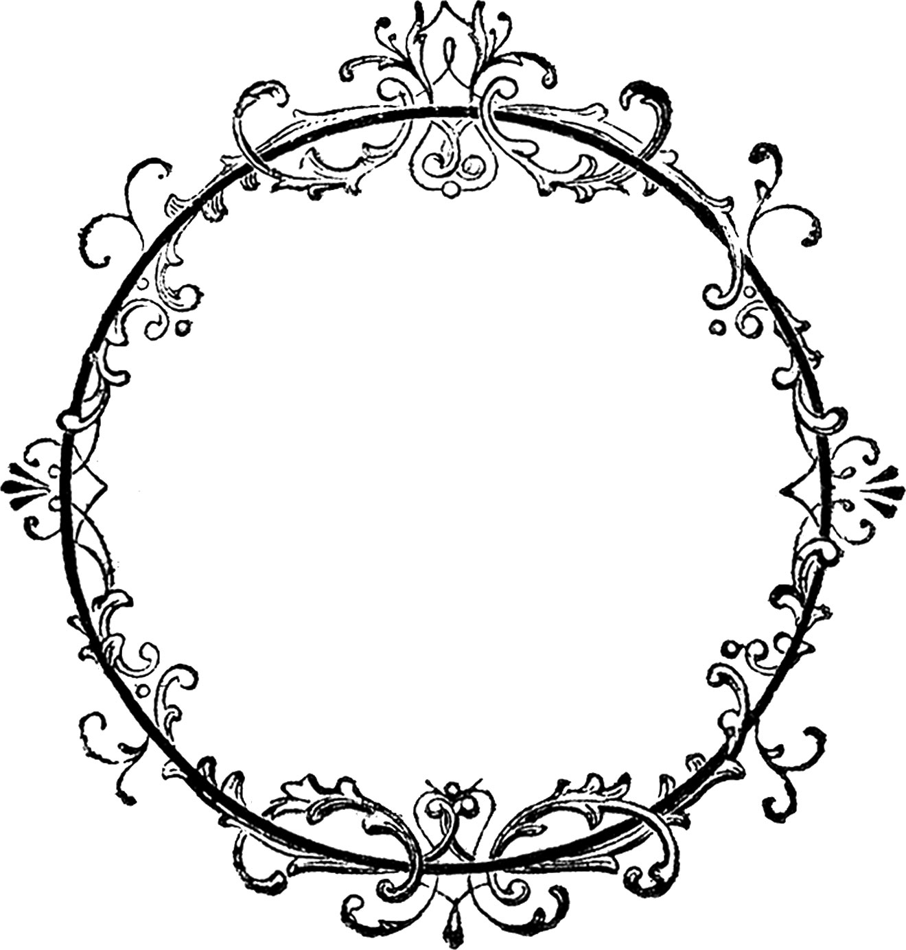 vintage clip art circle - photo #19